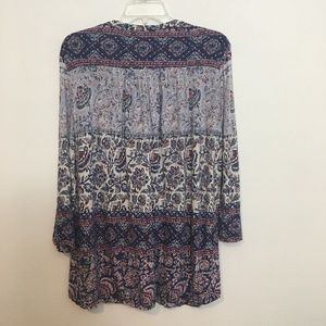 Lucky Brand Tops - LUCKY BRAND Boho Print lace up peasant top 1X